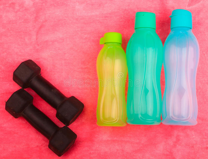 Gym Gear, gym clothes and sports wear kit royalty free stock images