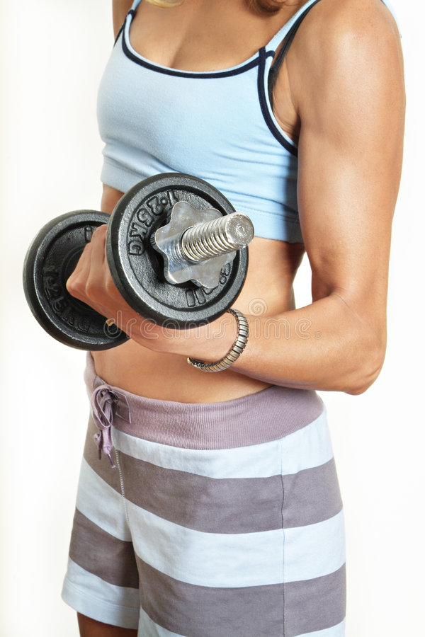 Gym Girl II stock photography