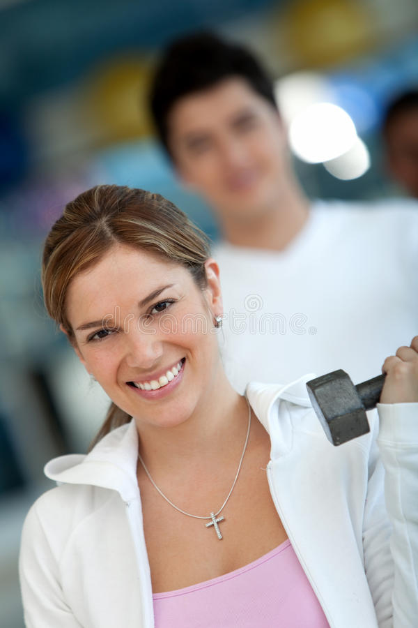 Download Gym group exercising stock image. Image of effort, happy - 15347065