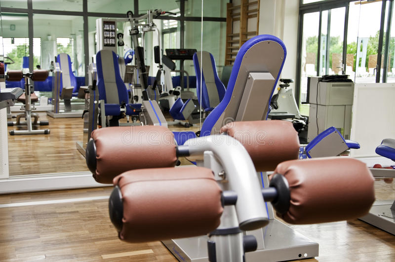 Download Gym Hall Equipment For Workout Stock Image - Image of floor, health: 14878689