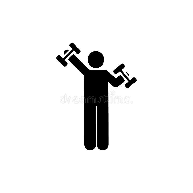 Gym, hotel, mężczyzna, sport ikona Element hotelowa piktogram ikona Premii ilo?ci graficznego projekta ikona znaki i symbole inka ilustracji