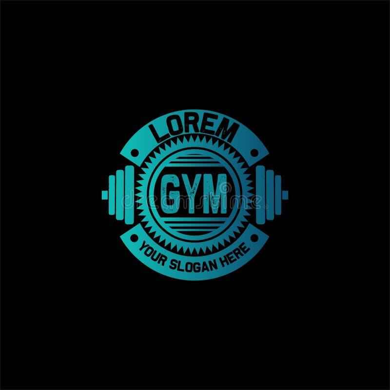 Gym i sprawności fizycznej odznaki logo ilustracja wektor