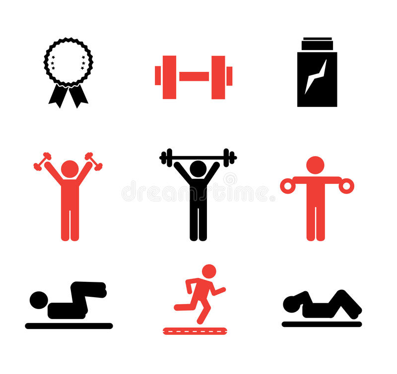 Download Gym icons stock vector. Image of design, illustration - 31940087