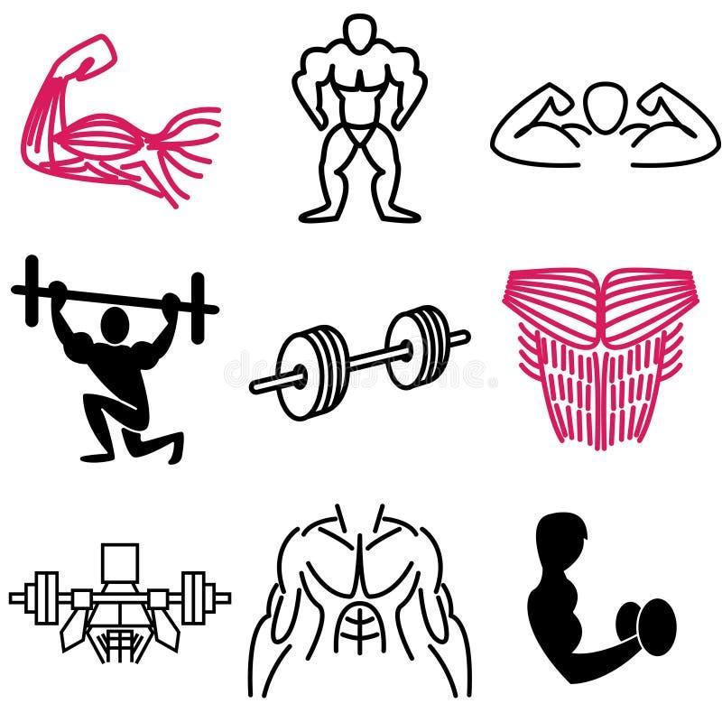 gym ikon mięsień ilustracji