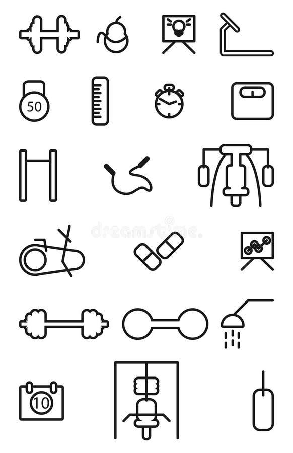 Gym ikona royalty ilustracja