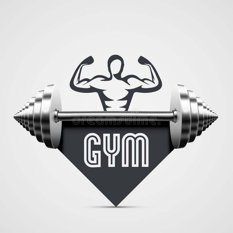 Gym ikona ilustracja wektor