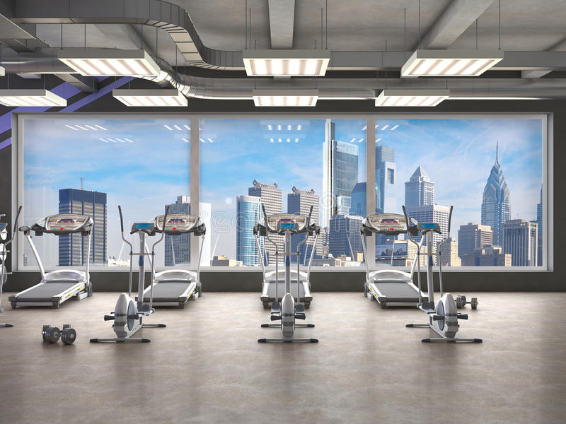 Gym inside, royalty ilustracja