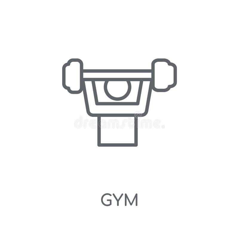 Gym liniowa ikona Nowożytny konturu Gym logo pojęcie na białym backgr royalty ilustracja