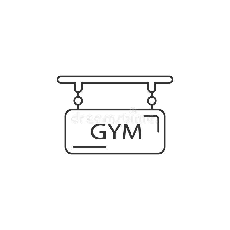 Gym loga ikona Prosta element ilustracja Gym loga symbolu projekta szablon Może używać dla sieci i wiszącej ozdoby royalty ilustracja