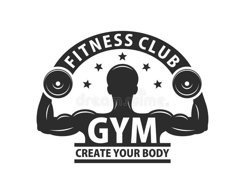 Gym loga szablon Monochromu styl ilustracji