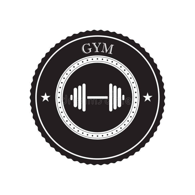 Gym loga wektor ilustracja wektor