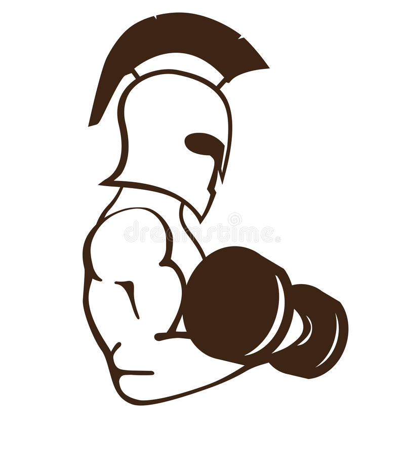 Gym logo. With strong spartan royalty free illustration