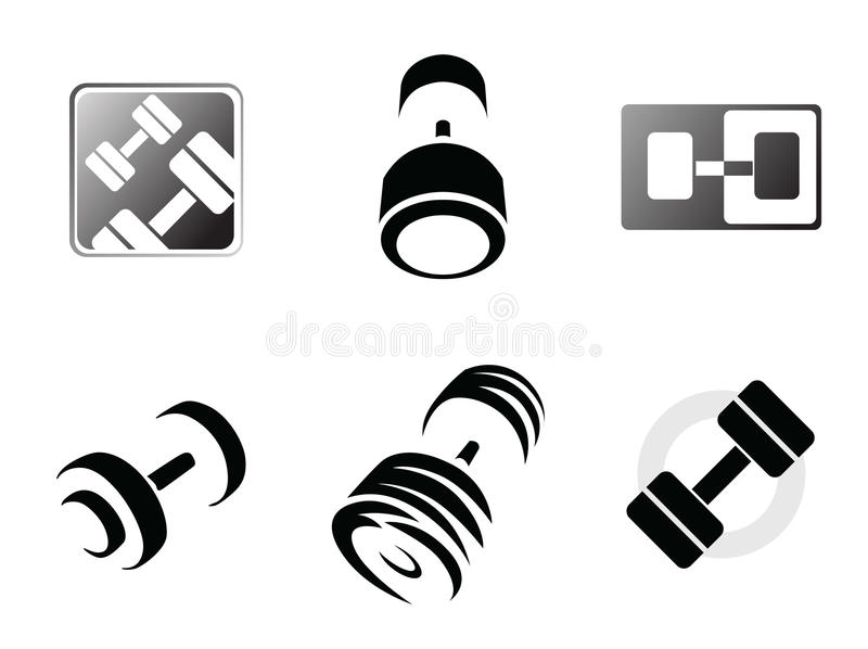 Download Gym logo templates stock vector. Image of muscular, power - 18983111