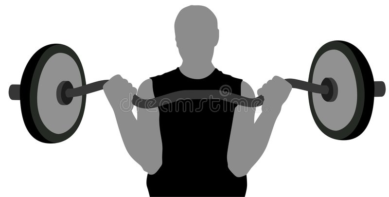 Download Gym man with barbell stock vector. Illustration of lift - 4092554
