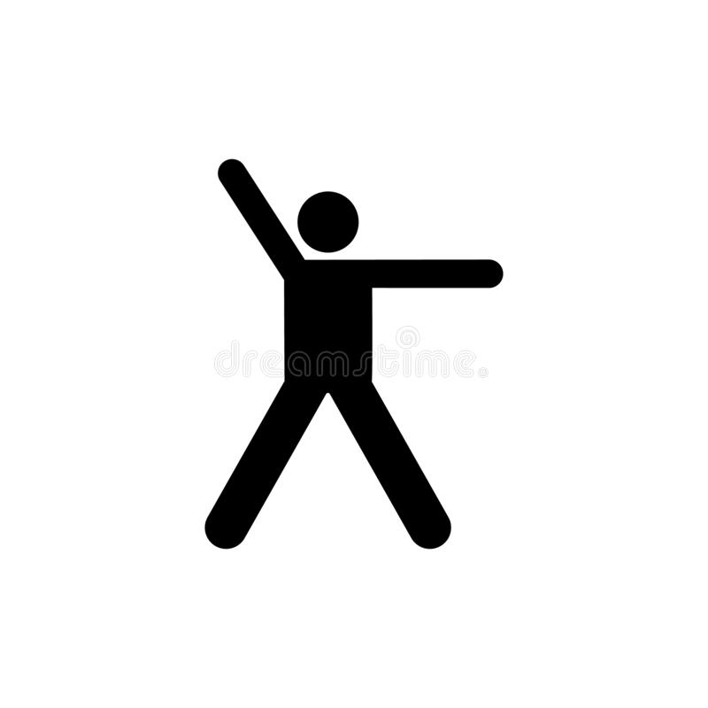 Gym, man, exercise, health, sports icon. Element of gym pictogram. Premium quality graphic design icon. Signs and symbols. Collection icon on white background vector illustration