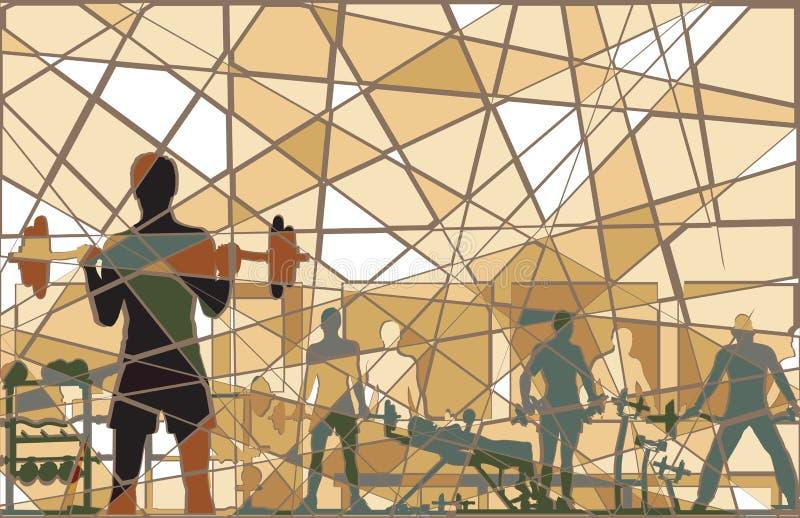 gym mozaika royalty ilustracja