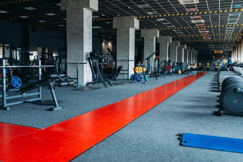 Gym nobody, empty fitness club stock photography