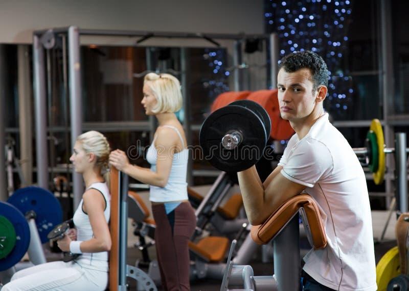 gym out zaludnia działanie fotografia stock
