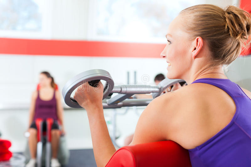 Download Gym People Doing Strength Or Fitness Training Stock Photo - Image of recreation, people: 23576776