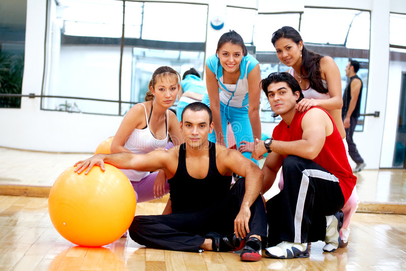 Download Gym people smiling stock photo. Image of girls, friendship - 5459396