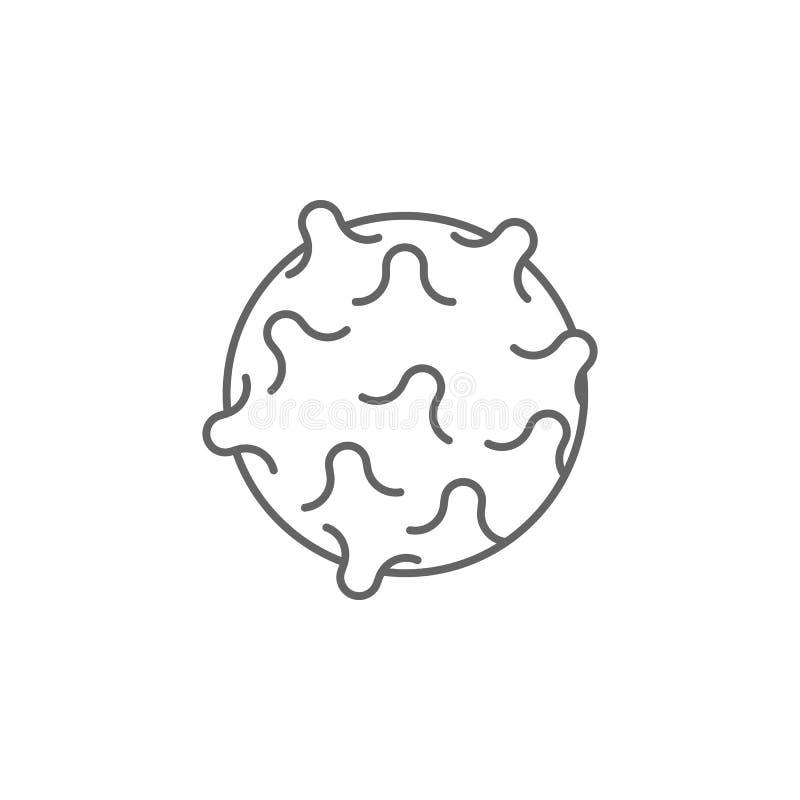 Gym piłka, fizjoterapii ikona Element fizjoterapii ikona Cienka kreskowa ikona dla strona internetowa projekta i rozwoju, app roz royalty ilustracja
