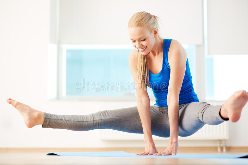 In gym stock image