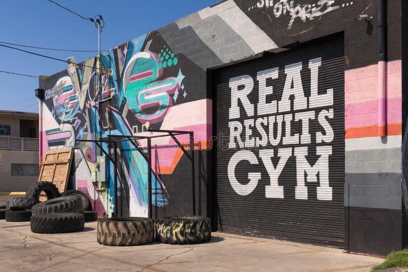 Gym real dos resultados imagens de stock royalty free