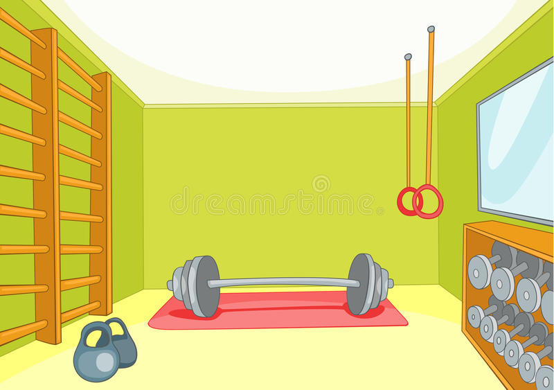 Gym Room royalty free illustration
