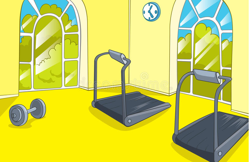 Gym room stock vector illustration of power clip build
