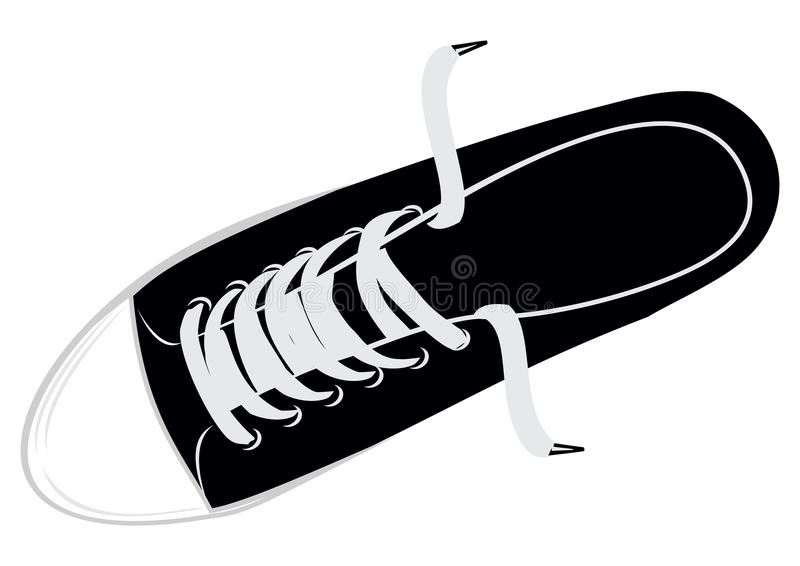 Download Gym shoes stock vector. Illustration of footwear, shoelace - 18801719