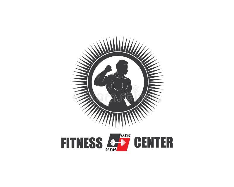 gym, sprawności fizycznej ikony logo szablonu ilustracyjny wektor royalty ilustracja