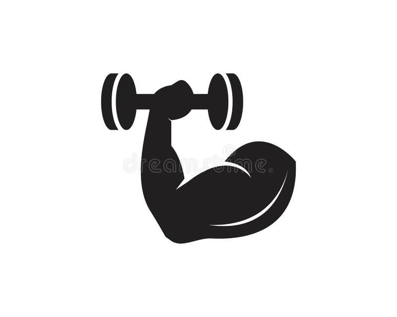 Gym, sprawności fizycznej ikony logo wektoru ilustracja ilustracja wektor