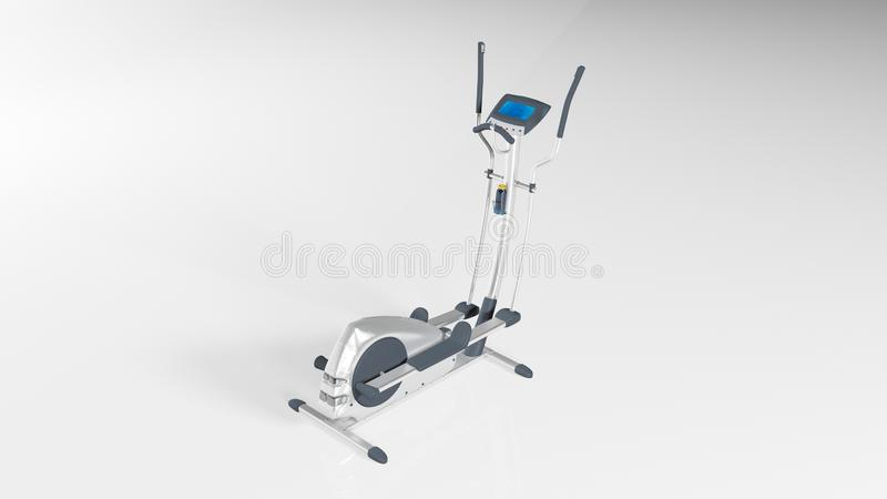 Gym stepper, workout step machine, sports equipment isolated on white background, 3D render. Ing vector illustration