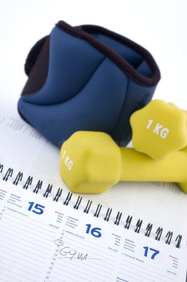 Gym time stock image