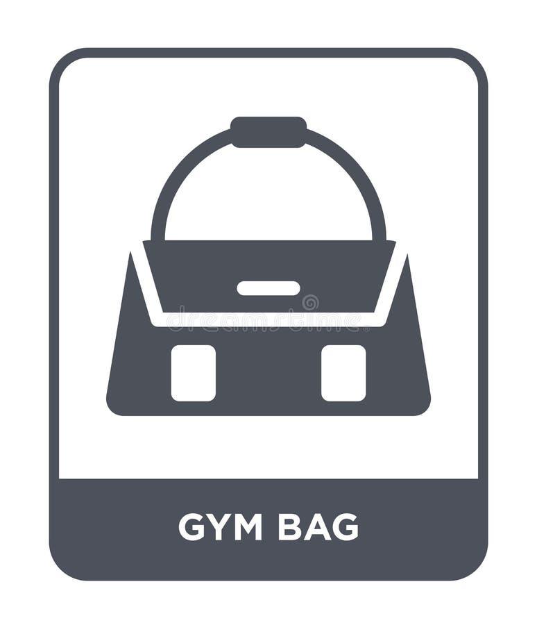 gym torby ikona w modnym projekta stylu gym torby ikona odizolowywająca na białym tle gym torby wektorowej ikony prosty i nowożyt ilustracja wektor