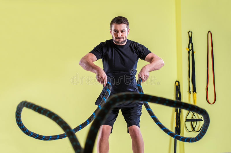 Gym training. royalty free stock images