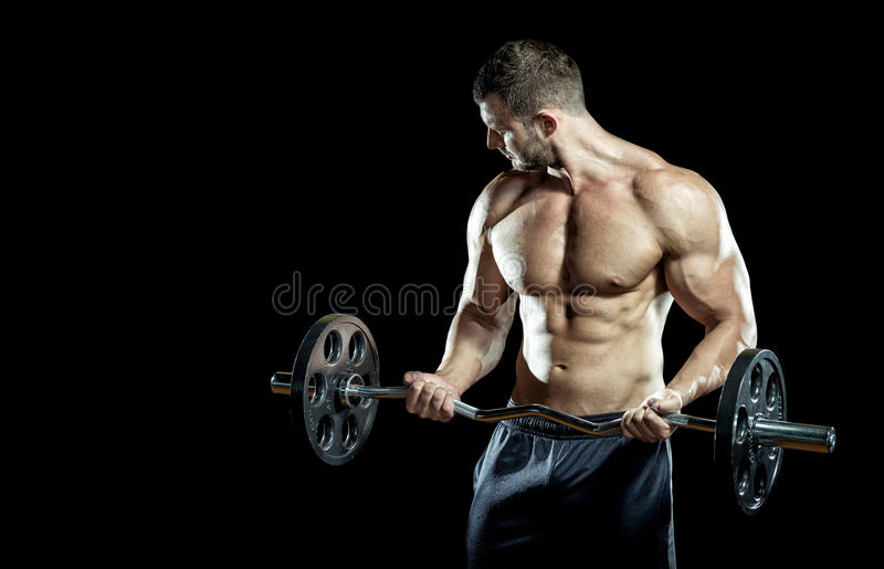 Gym training workout stock images