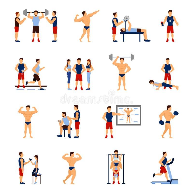 Gym trenera set ilustracja wektor