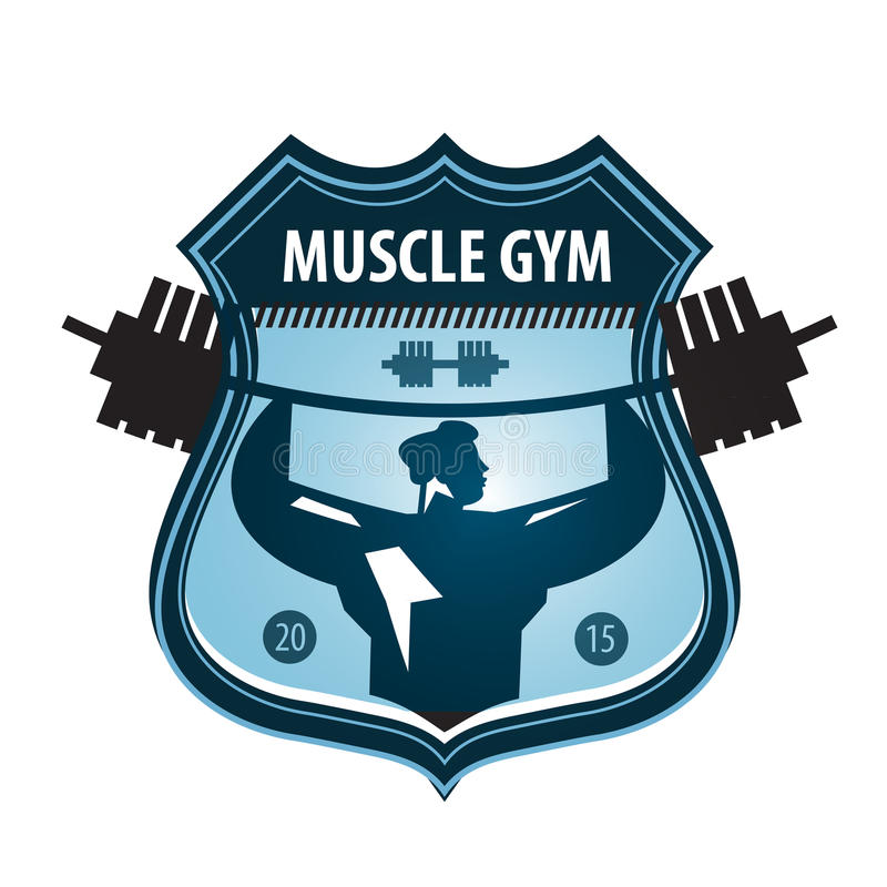 gym vector logo design template heavy athletics stock vector rh dreamstime com