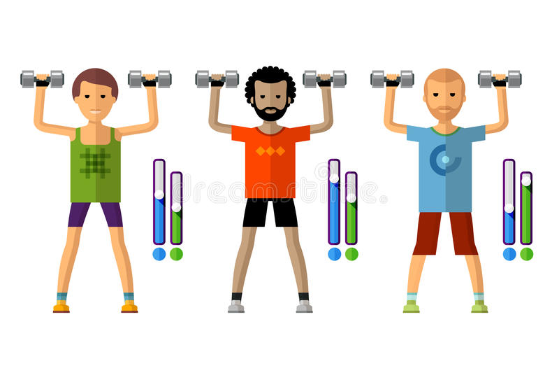 Gym vector logo design template. sport, athletics stock illustration