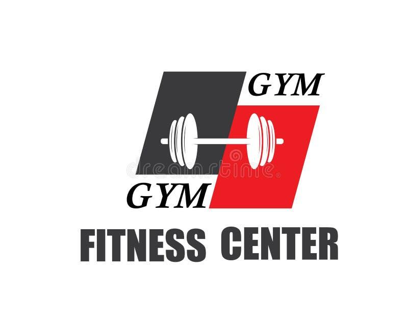 gym, vetor do molde da ilustração do logotipo do ícone da aptidão ilustração do vetor