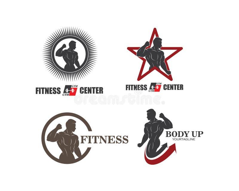 gym, vetor do molde da ilustração do logotipo do ícone da aptidão ilustração royalty free