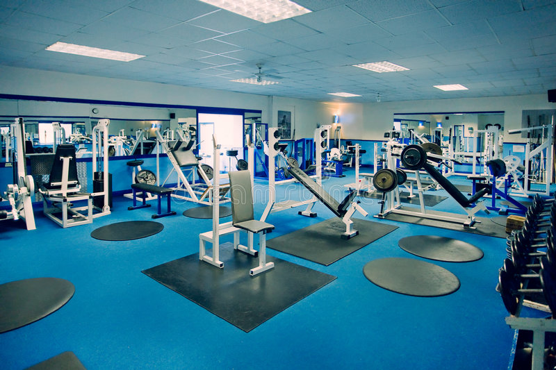 Gym & Weight Machines royalty free stock image
