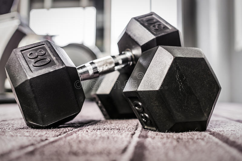 Gym weights stock images