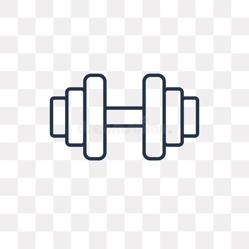 Gym wektorowa ikona odizolowywająca na przejrzystym tle, liniowy Gym t ilustracja wektor