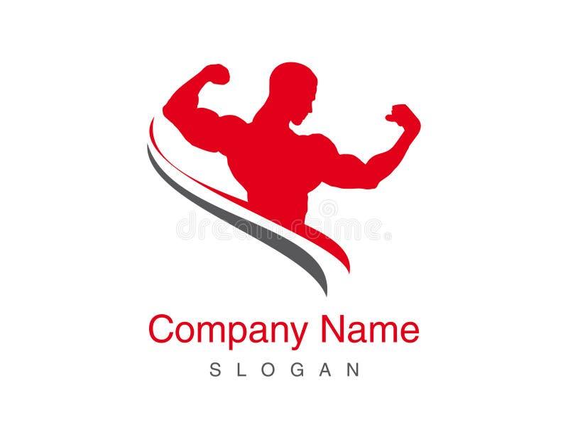 Gym wektoru logo ilustracji