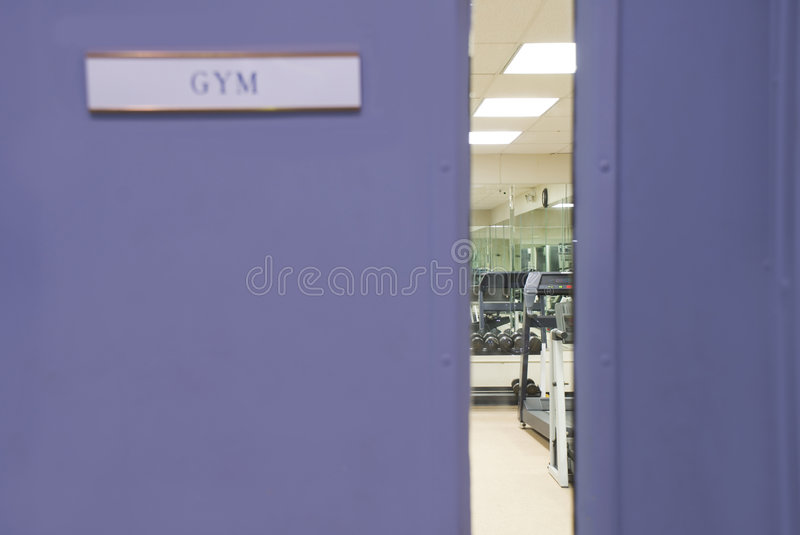 Download Gym Window stock image. Image of lifting, healthy, physical - 1721999
