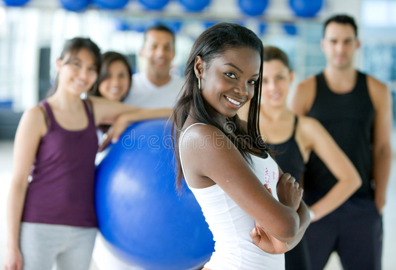 Download Gym woman stock photo. Image of loss, exercise, cheerful - 7909590