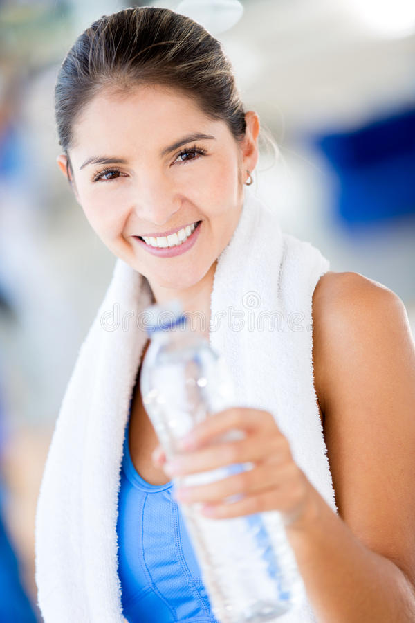 Download Gym Woman With A Bottle Of Water Stock Photo - Image: 27697892