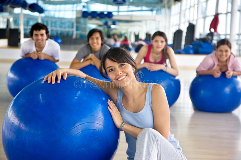 Download Gym woman portrait stock image. Image of front, pilates - 8572615